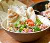 Black-eyed Pea Salad with Toasted Pita Wedges