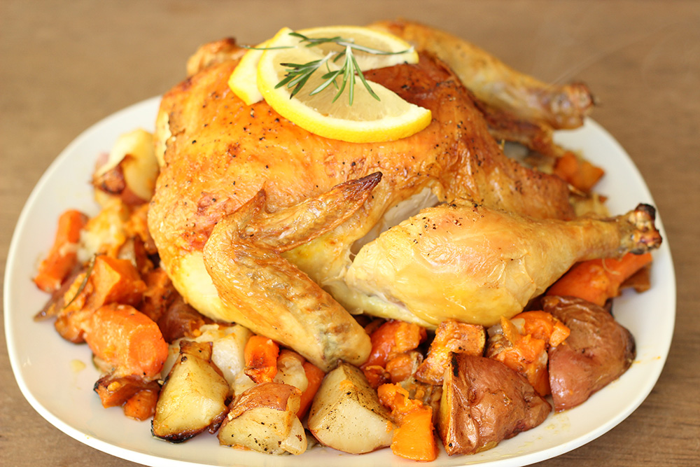 One Pot Roast Chicken with Veggies