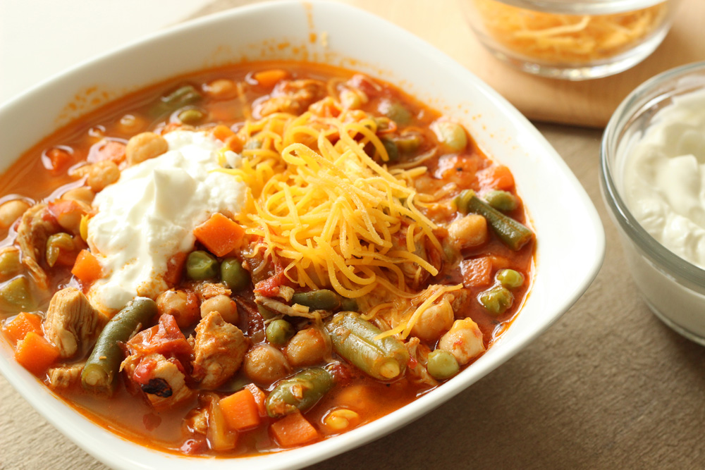 Chicken Chili with Chickpeas