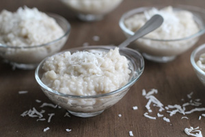 Dairy Free Coconut Honey Rice Pudding