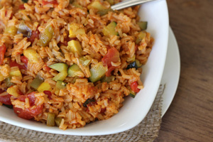 Jambalaya with Summer Squash