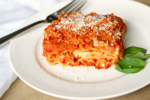 Gluten-Free Lasagna with Turkey Sausage